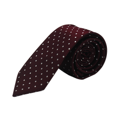 Dark Magenta Polka Dots Neck Tie