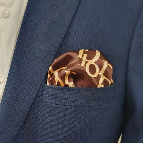 Dior Brown Pocket Square