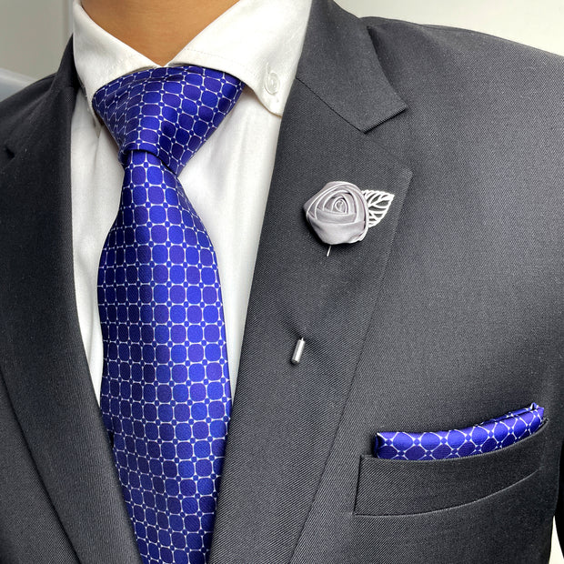 Blue 5 Necktie Set