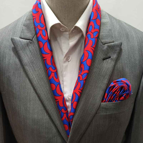 Electric Red and Blue Scarf Set