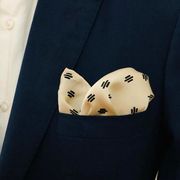 Cream Pocket Squares