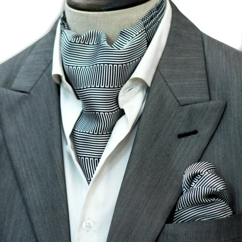 GEOMETRIC STRIPED CRAVAT SET
