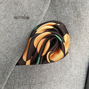 GOLD AND BLACK POLKA DOTS SILK POCKET SQUARE