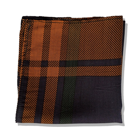 GREEN & MUSTRED PLAIDS POCKET SQUARE