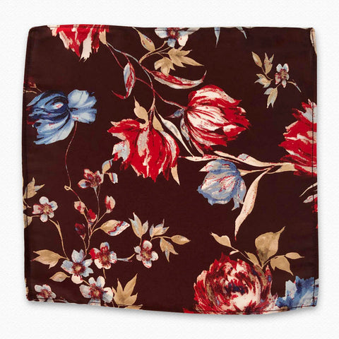 Garden Art Silk Pocket Square