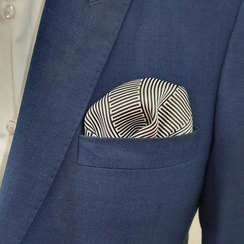 Geometric Striped Pocket Square