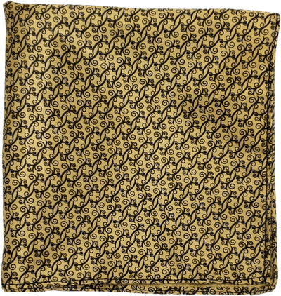 Golden Paisly Garden Pocket Square