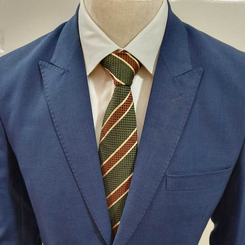 Green & Brown Striped Neck Tie