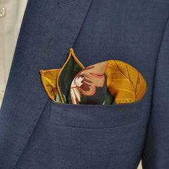 Green Leafy Pocket Square