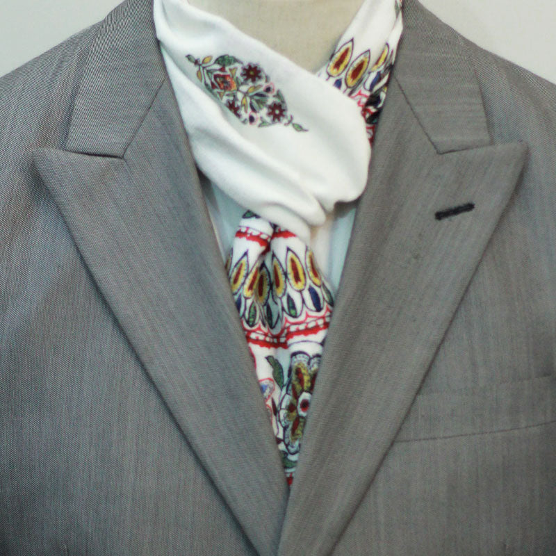 Hunza Floral Linen Scarf