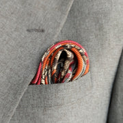 Italian Grey Paisley Silk Pocket Square