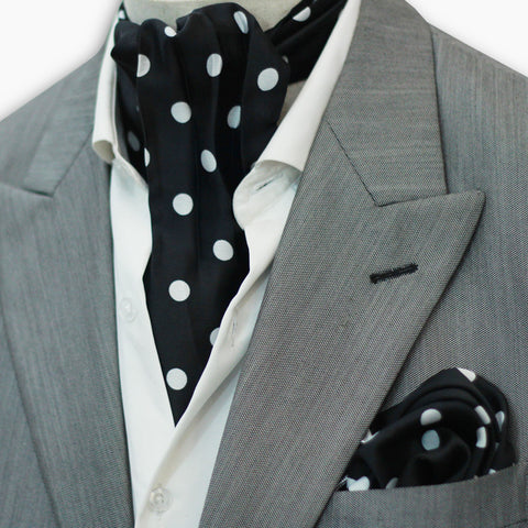 JUMBO POLKA DOTS SILK CRAVAT SET
