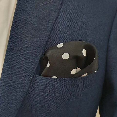 Jumbo Polka Dots Silk Pocket Square