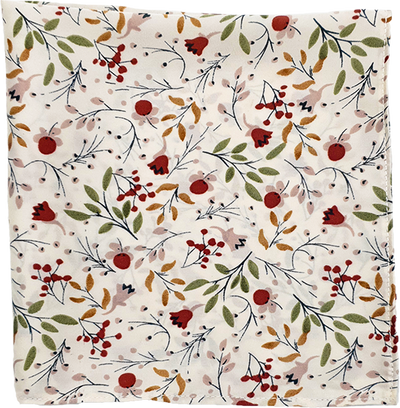 MULTI FLORAL SILK POCKET SQUARE