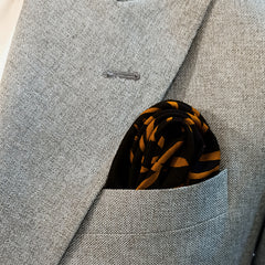 MUSTARD CUTS SILK POCKET SQUARE