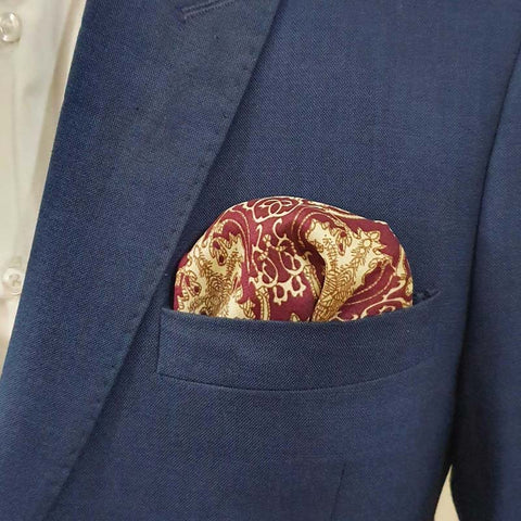 Maroon Chandler Pocket Square