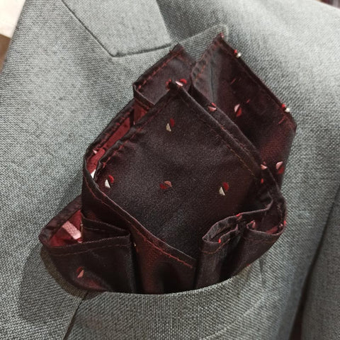 Midnight Maroon Pocket Square