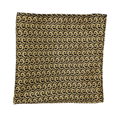 Mini Golden Paisley Pocket Square