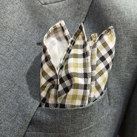 Mini Herringbone Pocket Square