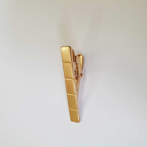 Mini Gold Blocks Tie Clip
