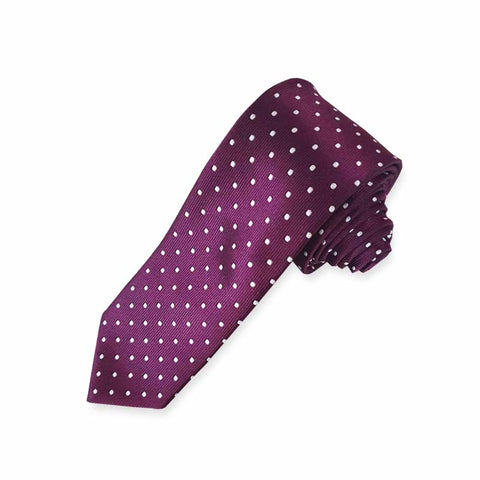 Mini Polka Magenta Neck Tie