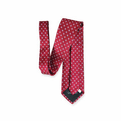 Mini White Boxed Maroon Tie