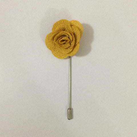 Mustard Flower Lapel Pin