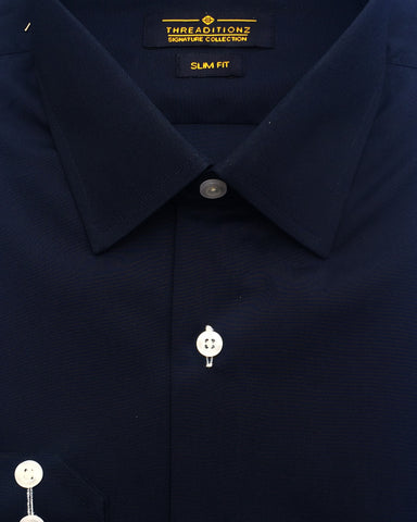 Navy Blue Cotton Shirt