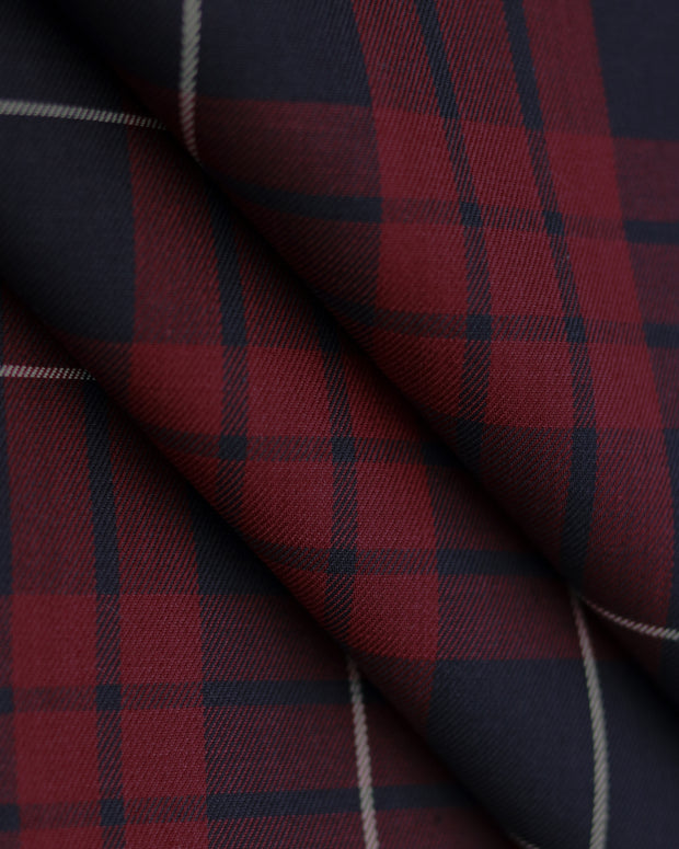 Navy and Burgundy Flannel