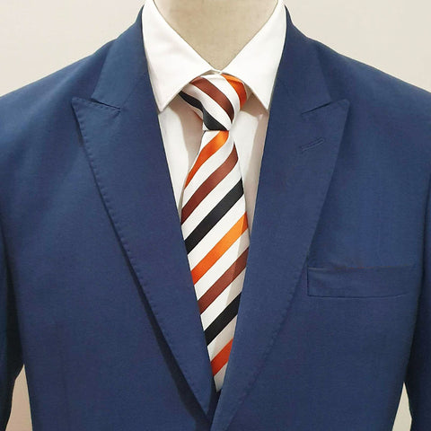 Orange & Brown Striped Tie