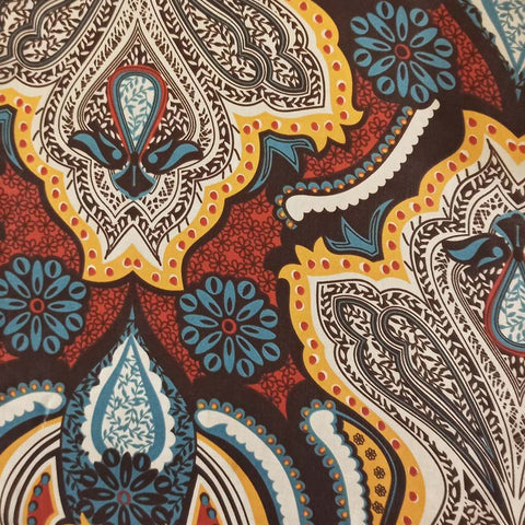 PERSIAN ART SILK POCKET SQUARE