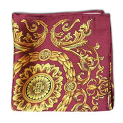 PERSIAN BERRY SILK POCKET SQUARE-1