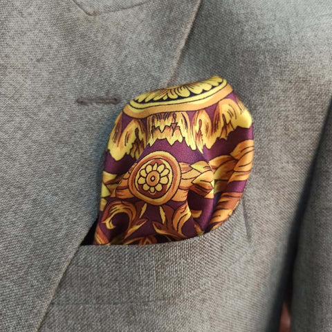 PURPLE PASSION SILK POCKET SQUARE-1