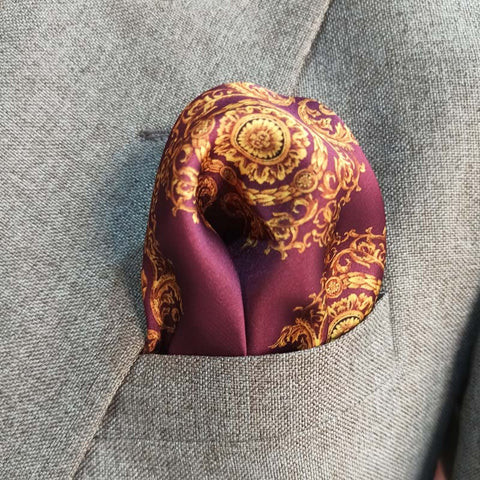 PURPLE PASSION SILK POCKET SQUARE