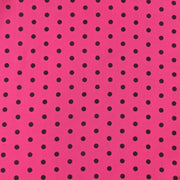 Pink With Black Polka Dots Silk Pocket Square