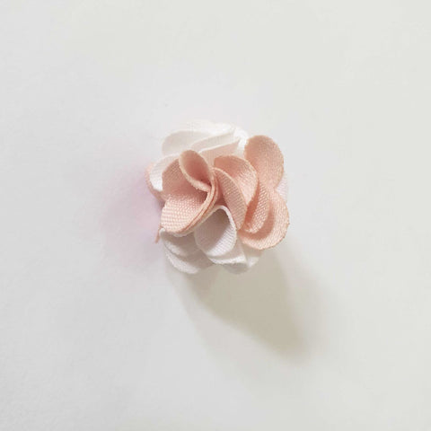 Mini Salmon & Rosewood Flower Button Lapel Pin