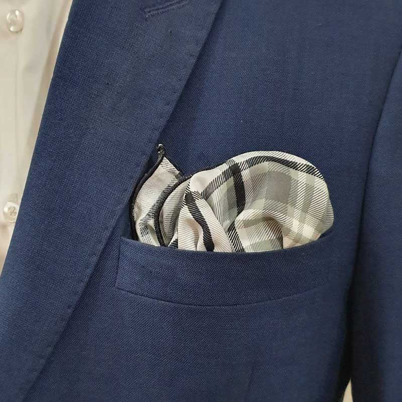 Plaid Blanket Pocket Square