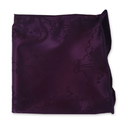 Plum Flower Embroidery Pocket Square