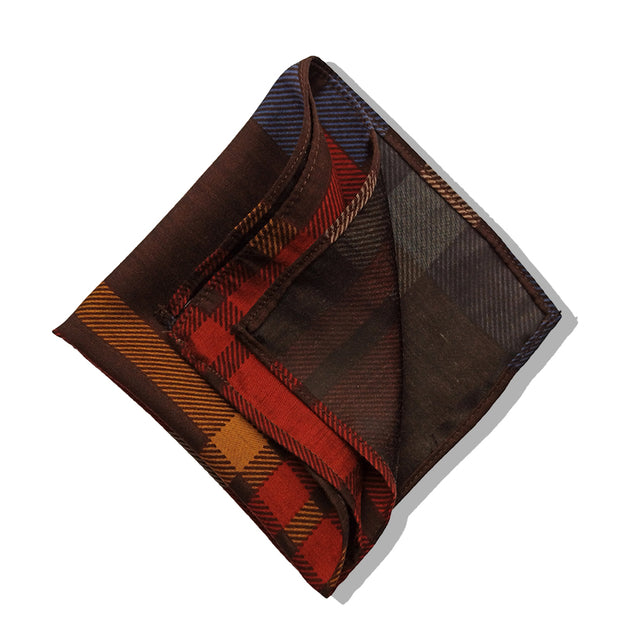 RED & BLUE PLAIDS POCKET SQUARE