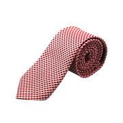 RED & WHITE MINI CHECKERED NECK TIE