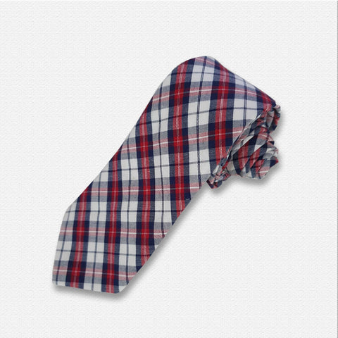 Red & White Checks Tie