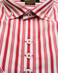 Red & White Lining Cotton Shirt