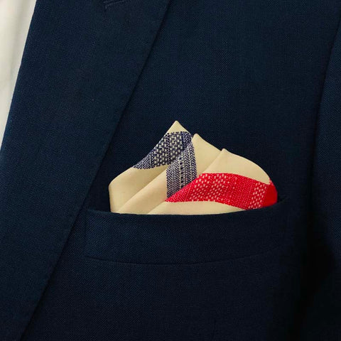 Red n Blue Checks Pocket Square