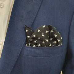 Retro Floral Pocket Square