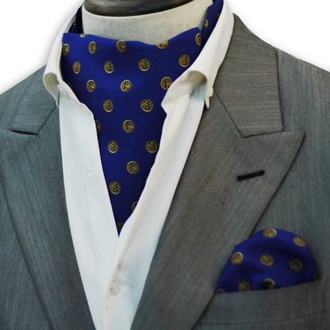 Royal Blue Michael Kors Silk Cravat Set