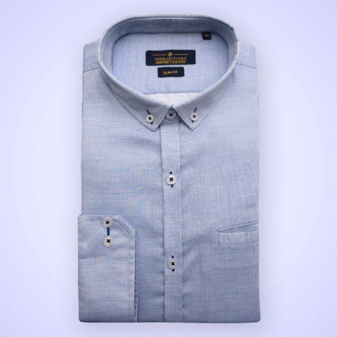 Sky Blue Polo Cotton Shirt