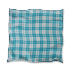 Sky Blue Tartan Silk Pocket Square
