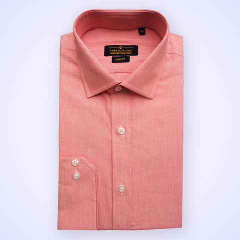 Solid Pink Cotton Shirt