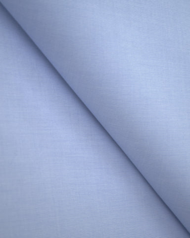 Solid Sky Blue Chambray Cotton