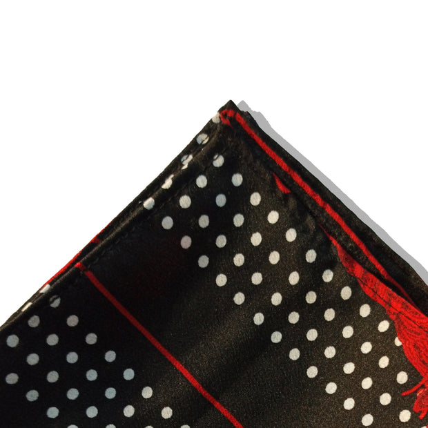 THE POLKA TASSELS POCKET SQUARE